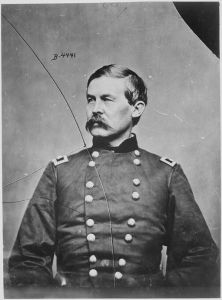 Brigadier General John Buford, U.S. Cavalry Corps, led his division in an attack on the skillfully defended town of Williamsport on July 7. Although the assault was joined by Union Brig. Gen. Hugh Judson Kilpatrick and his cavalry, the Confederate defenders held on. Brady National Photographic Art Gallery (Washington, D.C.), National Archives and Records Administration