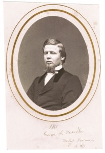 Photograph of George A. Marden, taken in 1861 before he joined the U.S. Sharpshooters. Marden, the author's great grandfather, enlisted as a private and by Gettysburg was a lieutenant.  Courtesy of Rauner Library Special Collections, Dartmouth College, Hanover NH