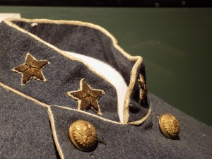 Sandie Pendleton's Uniform at Museum of Virginia (detail photograph)