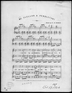 McClellan and Pendleton Sheet Music (Library of Congress, Music Division)