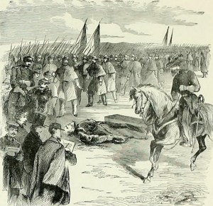 """Troops Passing the Body"""