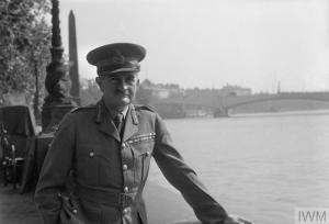 GENERAL SIR WILLIAM SLIM, LONDON, ENGLAND, UK, JUNE 1945 (D 25026) A portrait of General Sir William Slim, standing on the Embankment in London. Behind him can be seen Cleopatra's Needle, and Waterloo Bridge is also visible in the background. Copyright: © IWM. Original Source: http://www.iwm.org.uk/collections/item/object/205202051