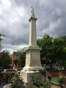 The memorial to the victims of the Washington Arsenal Explosion that occurred in June, 1864.