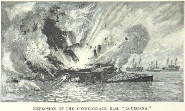 CSS Louisiana explodes