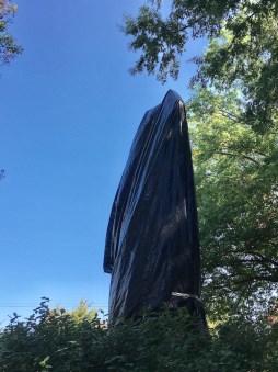 Black Tarp Jackson Statue