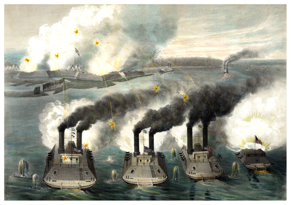 Ironclads at Fort Henry