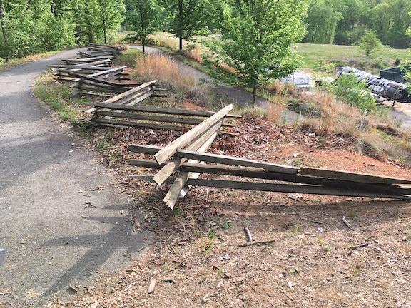 Trash Park fence-after