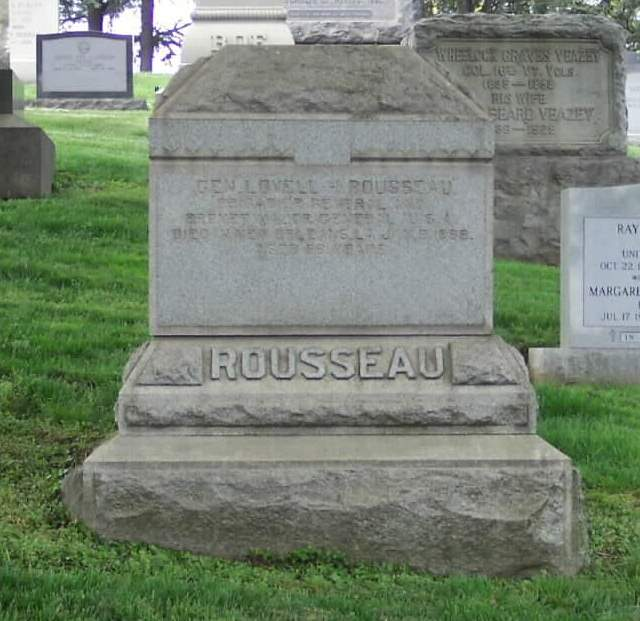 Grave of Lovell Rousseau at Arlington
