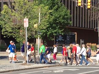 TI Crossing the Street