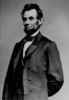 Abraham Lincoln poofy hair