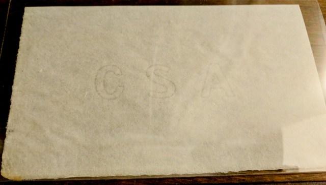 CSA Bank Note paper