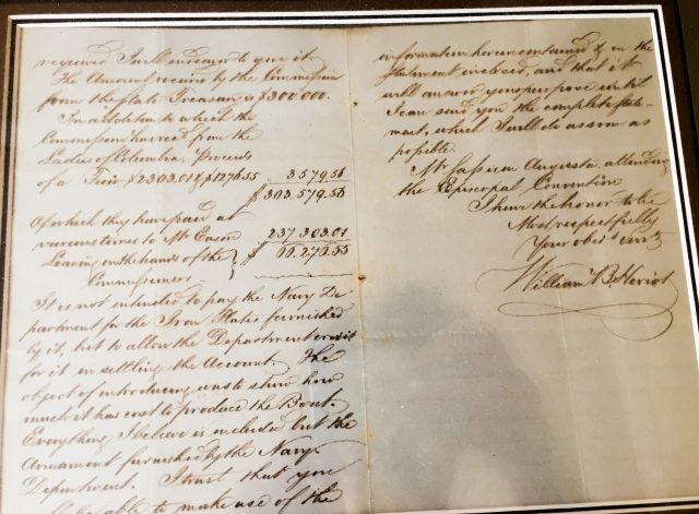 CSS Chicora finance letter