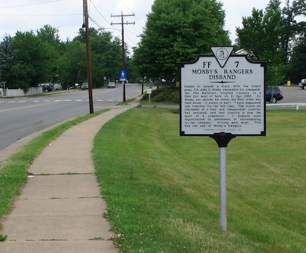 Mosby's Rangers Disband Marker