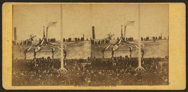 Sumter Flag Raising Stereoscope