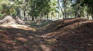 Confederate Earthworks near Redoubt Six