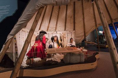 Interactive exhibit in the Syncrude Gallery of Aboriginal Culture