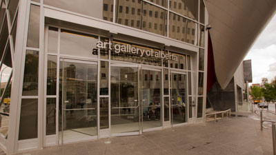 Entrance to the Art Gallery of Alberta