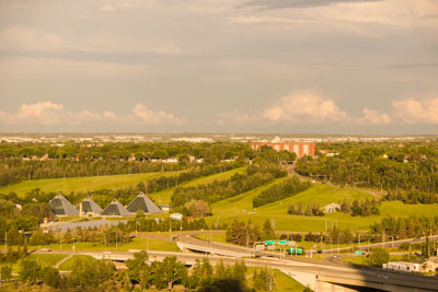 View from Room 704 at the Chateau Lacombe in Edmonton, Alberta