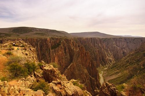 Pulpit Rock Overlook at the Black Canyon of the Gunnison National Park