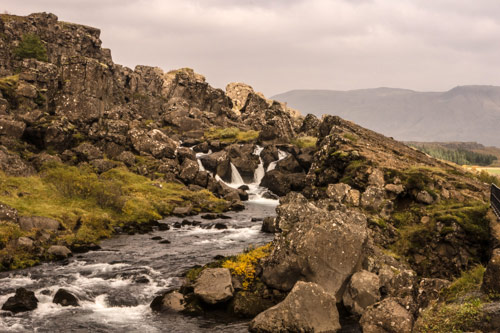 Waterfalls at Thingvellir National Park
