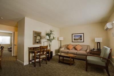 Living area in room 443 at the Glorietta Bay Inn