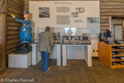 Harvey House exhibit in the Bright Angel History Room