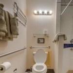 Toilet in room 116 at La Posada Hotel