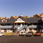 Photo showing the exterior of The Nordic Inn in Mt. Crested Butte