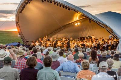 The Kansas City Symphony Orchestra on stage