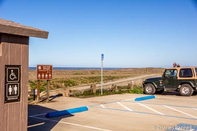 Parking next to the Beachcomber Motel
