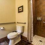 Toilet in suite 53 at Ojo Caliente Hot Springs