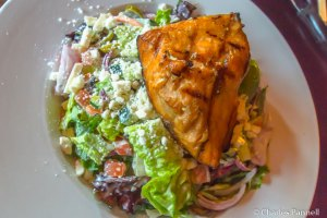 Salmon and Avocado Salad at the Bullfish Grill