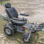 Photo of a beach wheelchair