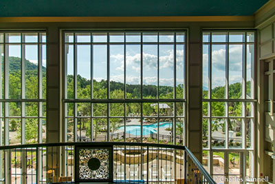View from the lobby of the Dollywood Dream More Resort