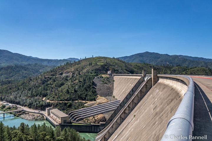 The powerhouse at Shasta Dam