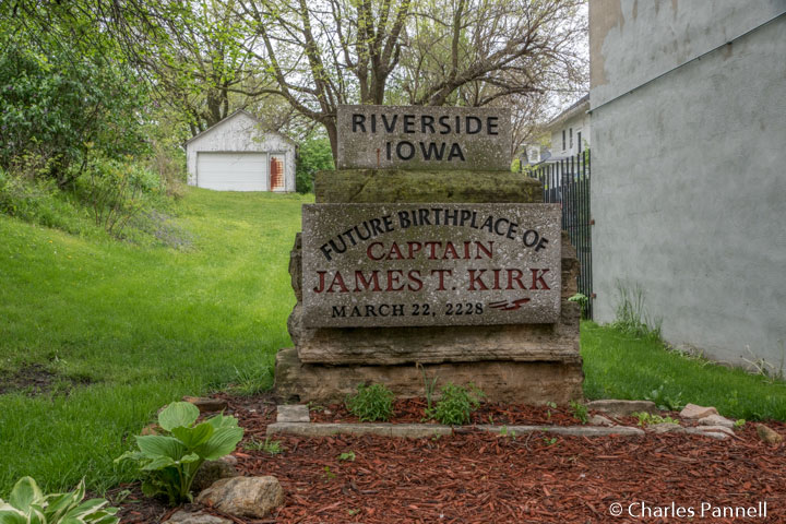 Future birthplace of Captain James T. Kirk in Riverside, Iowa