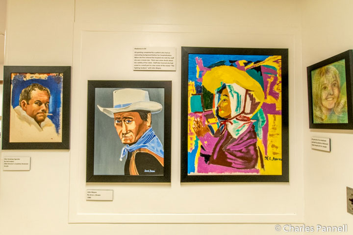 Paintings by patients at Glore Psychiatric Hospital