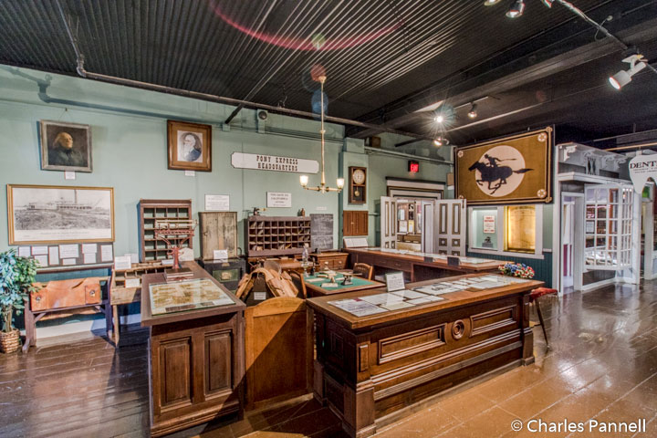 Pony Express office in the Patee House Museum