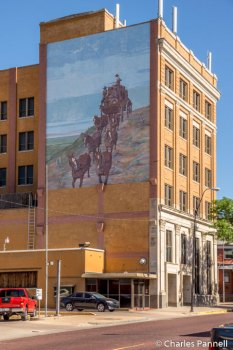 Stan Herd mural on the Bank America Building
