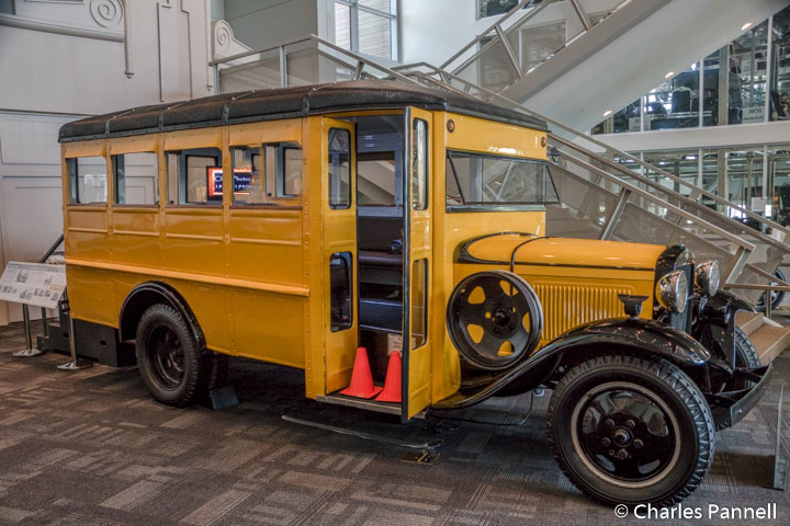 1931 Model AA school bus in the Elliot Museum