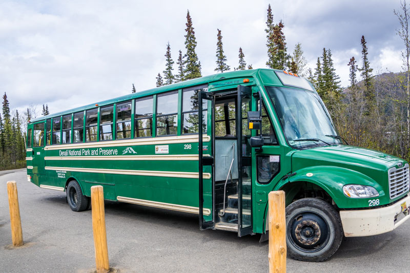 Courtesy shuttle in Denali National Park