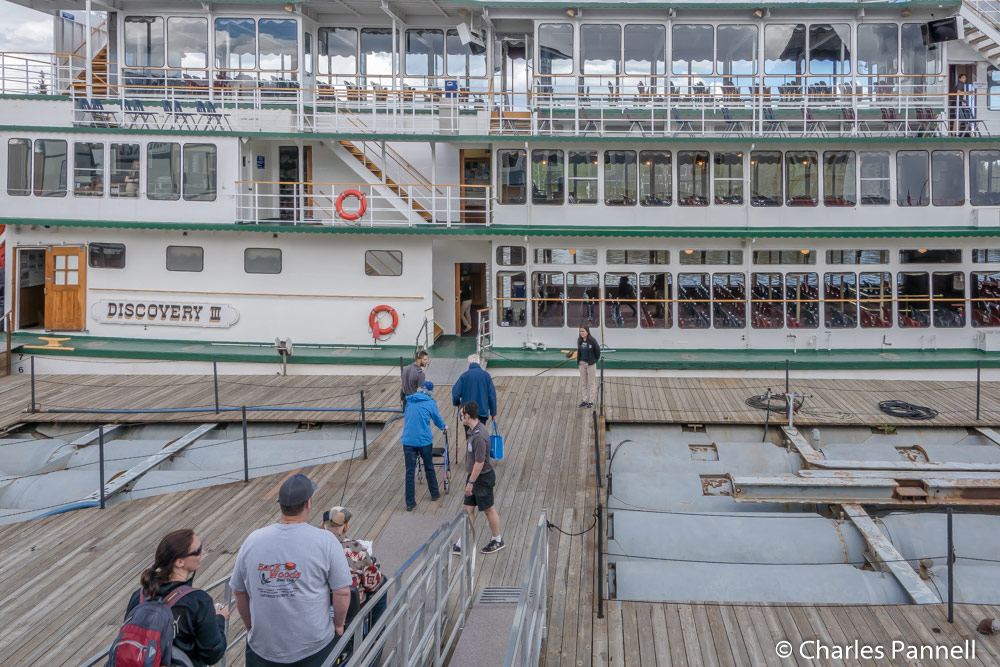 Boarding the Riverboat Discovery