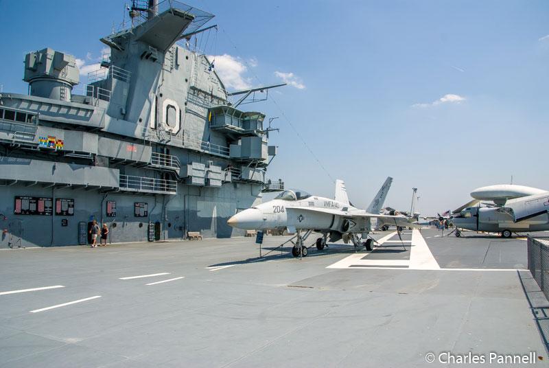 Flight deck on the USS Yorktown