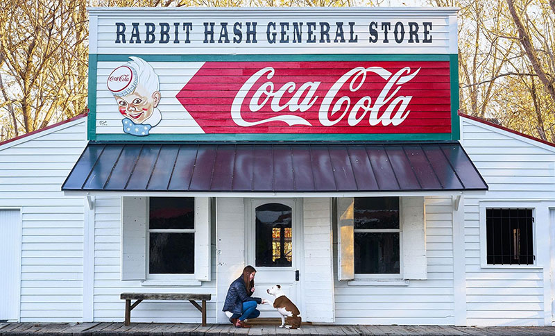 Mayor Brynn at the Rabbit Hash General Store