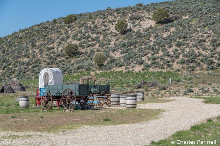 Wagon encampment behind the California Trail Interpretive Center