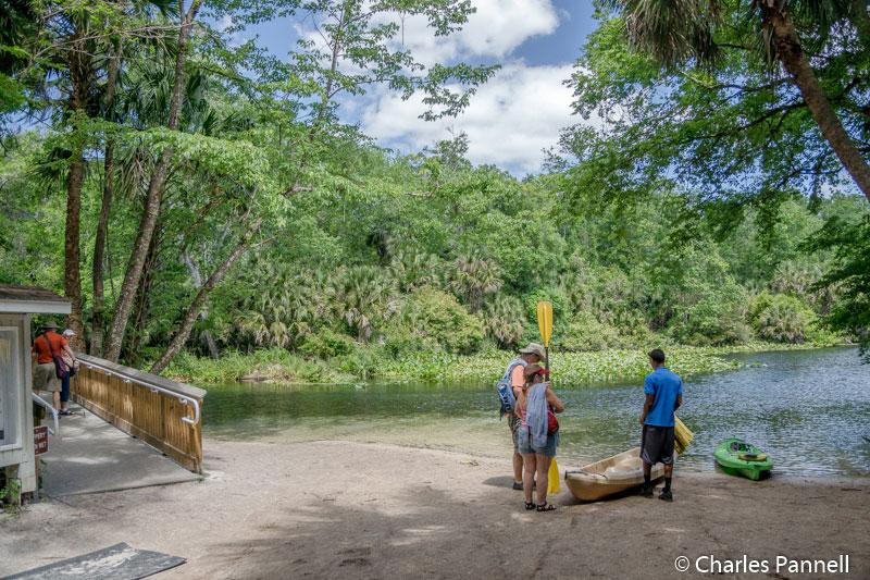Kayak beach on the Wekiva River at Wekiwa Springs