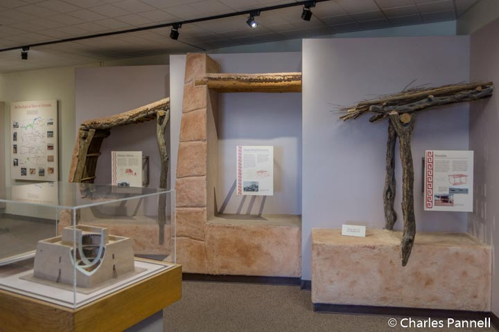 Displays inside the Casa Grande Ruins Museum
