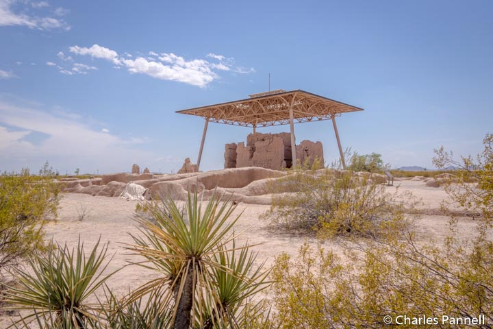 Protected ruins at Casa Grande National Monument