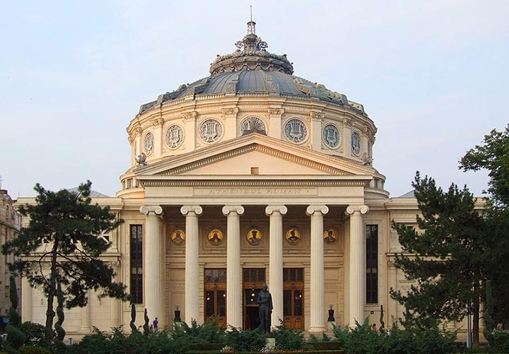 Romanian Athenaeum in Bucharest, Romania By Pudelek (Marcin Szala) (Own work) [CC BY-SA 3.0 (https://creativecommons.org/licenses/by-sa/3.0)], via Wikimedia Common