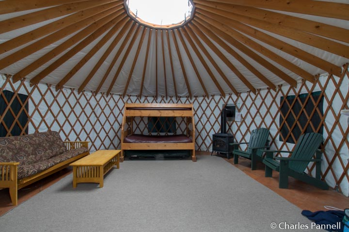 Inside the Wells Yurt